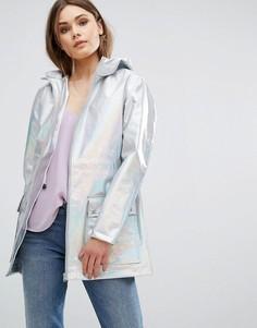 Куртка с голографическим принтом New Look - Серебряный