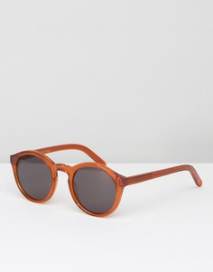 Оранжевые круглые солнцезащитные очки Monokel - Оранжевый