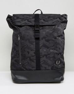 Черный рюкзак с камуфляжным принтом Fred Perry - Черный