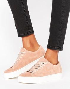 Замшевые кроссовки Selected Donna - Розовый