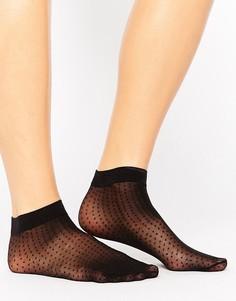 Короткие носки в крапинку ASOS - Черный
