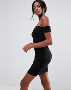 Облегающее платье мини с открытыми плечами ASOS - Черный