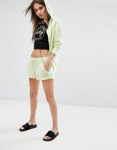 Махровые шорты с пальмами и закатанными краями Juicy By Juicy Couture Trk - Желтый