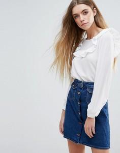 Блузка с оборками Brave Soul - Кремовый