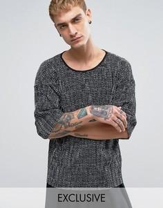 Плиссированная футболка Reclaimed Vintage Inspired - Черный