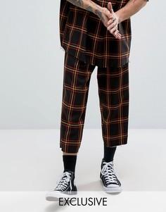 Свободные брюки в клетку Reclaimed Vintage Inspired - Черный