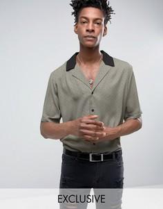 Рубашка цвета хаки с отложным воротником Reclaimed Vintage - Зеленый