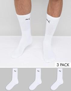 3 пары белых носков выше голени Puma 7312300 - Белый