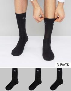 3 черных носков Puma 7312200 - Черный
