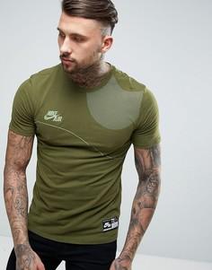Зеленая футболка с логотипом Nike Air 834579-387 - Зеленый