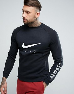 Черный свитшот с блочным принтом Nike Air 832150-010 - Черный