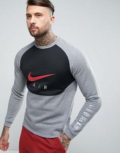 Серый свитшот с принтом Nike Air 832150-091 - Серый