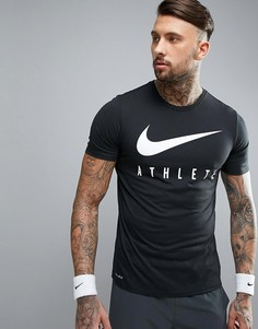 Черная футболка Nike Training Dri-FIT 739420-010 - Белый