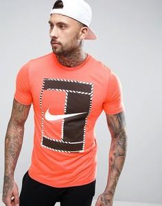 Оранжевая футболка с большим логотипом Nike 868770-877 - Оранжевый