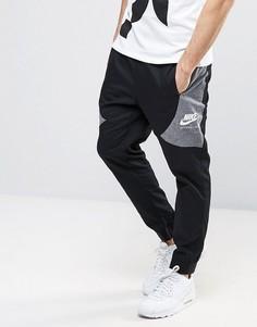Черные джоггеры колор блок Nike International 831134-010 - Черный