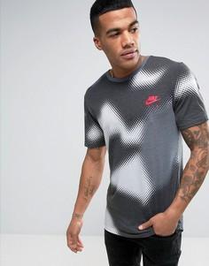 Футболка с принтом с выцветшим эффектом Nike 834614-100 - Белый