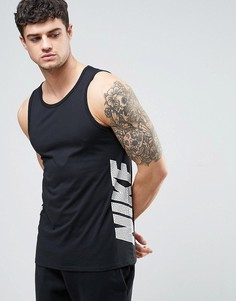 Черная майка с логотипом в винтажном стиле Nike 834729-010 - Черный