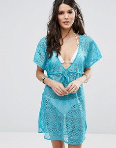 Ажурное пляжное платье Dorina Fiji - Синий