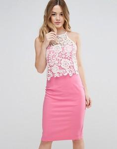 Кружевное платье Paper Dolls - Розовый