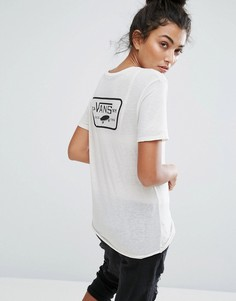 Светло-бежевая футболка Vans - Белый