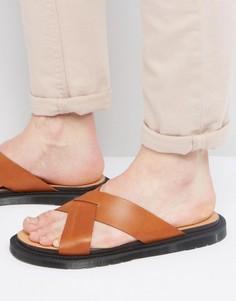 Светло-коричневые сандалии Dr Martens Platt - Рыжий