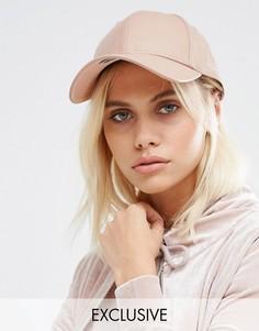 Розовая кепка из искусственной кожи New Era 9Forty - Розовый