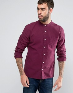Фактурная рубашка классического кроя с воротом на пуговице ASOS - Красный