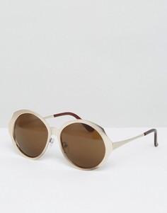 Солнцезащитные оversize-очки в стиле ретро AJ Morgan - Золотой