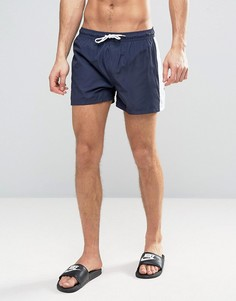 Короткие шорты для плавания со вставкой по бокам Bravesoul - Темно-синий