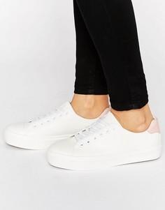 Кроссовки на шнуровке с мягким носком Blink - Белый