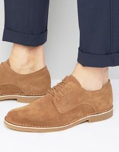 Замшевые туфли Selected Homme Royce - Коричневый