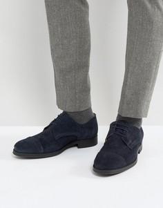 Замшевые туфли Selected Homme Oliver - Темно-синий