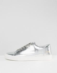 Серебристые низкие кроссовки Systvm - Серебряный