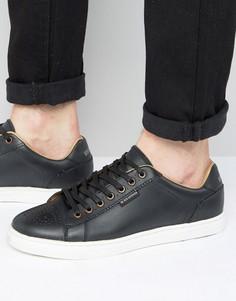 Черные кожаные кроссовки Ben Sherman Tredegar - Черный