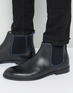 Черные кожаные ботинки челси Ben Sherman - Черный