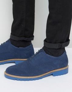 Темно-синие замшевые броги Ben Sherman Six - Синий