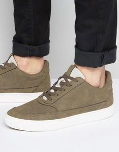 Серо-коричневые кроссовки средней высоты Systvm - Коричневый