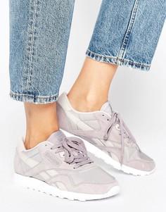 Серо-сиреневые кроссовки из нейлона Reebok Classic X Face - Фиолетовый