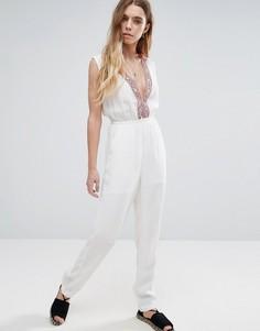 Комбинезон с вышивкой Glamorous - Белый