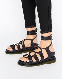 Сандалии на шнуровке Dr Martens Kristina Ghillie - Черный