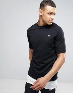 Черный свитшот с короткими рукавами Nike Modern 805174-010 - Черный