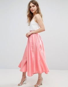 Плиссированная юбка-трапеция Traffic People - Розовый