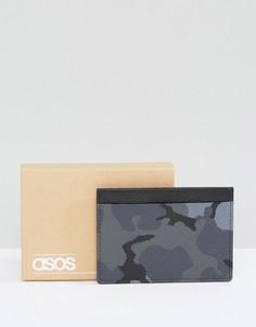 Камуфляжная кожаная кредитница ASOS - Черный