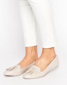Телесные туфли на плоской подошве с кисточками ALDO Auchi - Бежевый