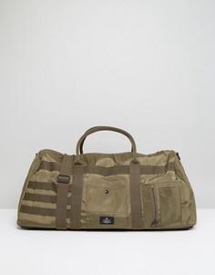 Зеленая сумка с оранжевой подкладкой ASOS - Зеленый