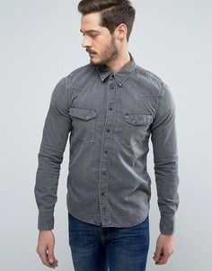 Джинсовая рубашка Nudie Jeans Co Jonis - Серый