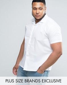 Рубашка скинни с отложным воротником Noose & Monkey PLUS - Белый