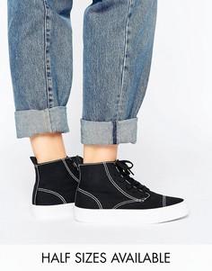 Кроссовки на шнуровке ASOS DAKOTA - Черный