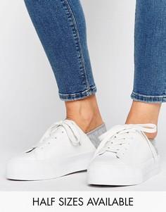 Кроссовки на платформе со шнуровкой ASOS DION - Белый