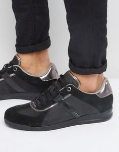 Кроссовки с отделкой цвета металлик Versace Jeans - Черный